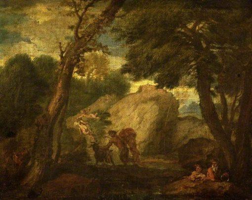 Landscape with Mythological Figure   Pier Francesco Mola   Oil Painting