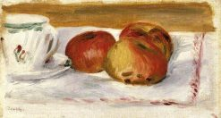 Apples and Teacup | Pierre Auguste Renoir | Oil Painting