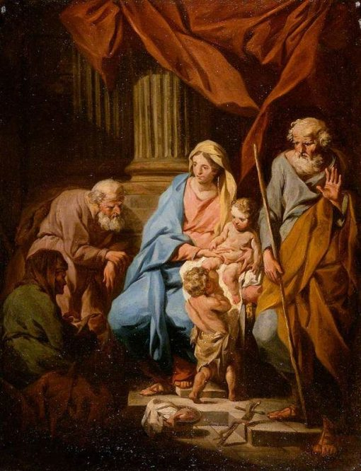 The Holy Family with Saints Elisabeth and Zaccharias and the Infant Saint John | Pierre Subleyras | Oil Painting
