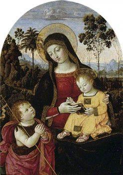 Virgin and Child with Saint John the Baptist | Pinturicchio | Oil Painting