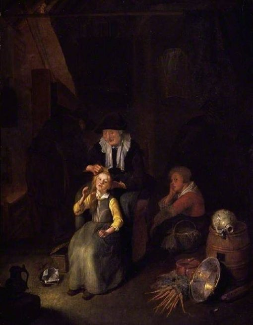 A Cottage Interioir | Quiringh van Brekelenkam | Oil Painting