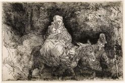 The Flight into Egypt: Crossing the Brook | Rembrandt van Rijn | Oil Painting