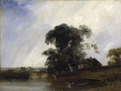 Landscape with a Pond | Richard Parkes Bonington | Oil Painting
