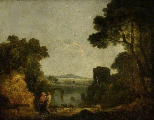 Italian River Landscape with a Broken Bridge | Richard Wilson
