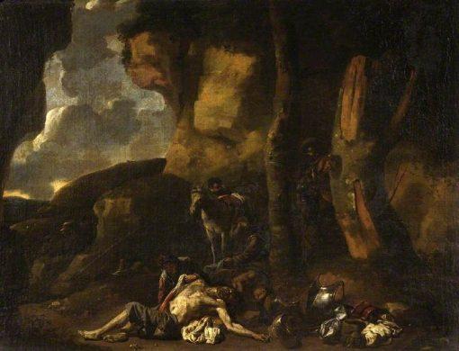 A Bandits' Cave | SEbastien Bourdon | Oil Painting