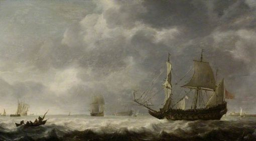 A Breeze near a Dutch Port | Simon de Vlieger | Oil Painting