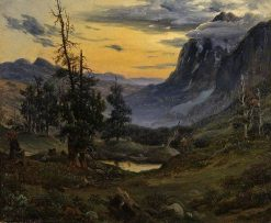Sunrise in the Wengeralp | Thomas Fearnley | Oil Painting
