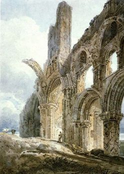 Lindisfarne Priory   Thomas Girtin   Oil Painting
