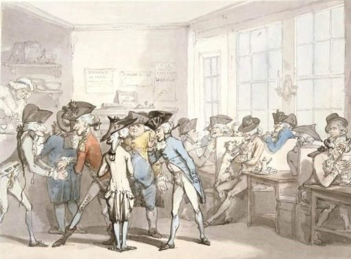 A French Coffee-House | Thomas Rowlandson | Oil Painting