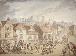 Windsor Castle from Eton Town | Thomas Rowlandson | Oil Painting