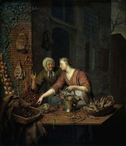 The Market Stall | Willem van Mieris | Oil Painting