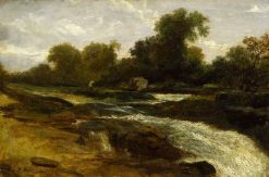 River Landscape with an Angler | William James Muller | Oil Painting