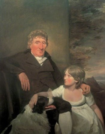 James Morison of Naughton with His Granddaughter   David Wilkie   Oil Painting
