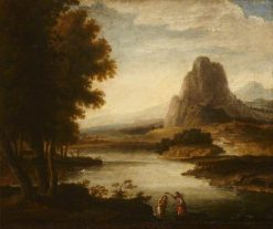 Landscape with the Baptism of Christ | Herman van Swanevelt | Oil Painting