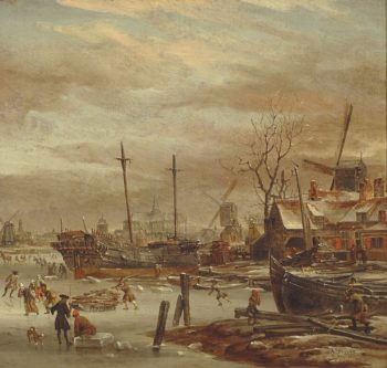 Winter Scene in Haarlem   Abraham Jansz. Storck   Oil Painting