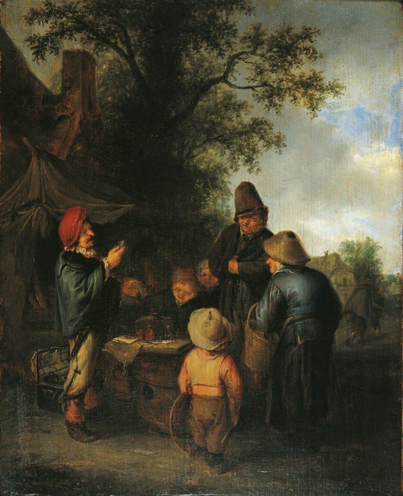 The Meeting   Adriaen van Ostade   Oil Painting