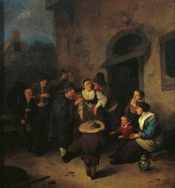 Outside an Inn | Cornelis Pietersz Bega | Oil Painting