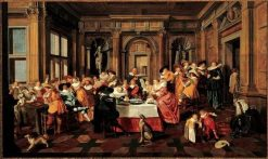 Festive Company in a Renaissance Room | Dirck van Delen | Oil Painting