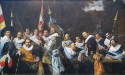 The Officers of the Civic Guard of St Adrian | Frans Hals | Oil Painting