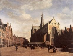 The Grote Markt in Haarlem with the St.-Bavochurch