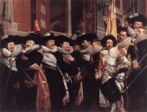 Officers of the Civic Guard of St Adrian   Hendrick Pot   Oil Painting