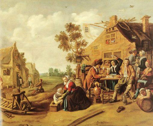 Peasants near a Tavern | Jan Miense Molenaer | Oil Painting