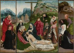 Triptych with the Lamentation | Jan Mostaert | Oil Painting
