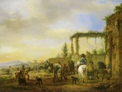 The Horse School | Philips Wouwerman | Oil Painting