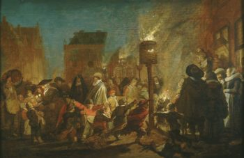 Evening Party on the Grote Markt in Haarlem | Pieter de Molijn | Oil Painting