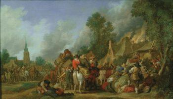 The Looting of a Village   Pieter de Molijn   Oil Painting