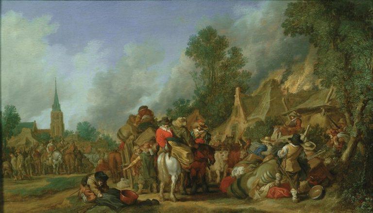 The Looting of a Village | Pieter de Molijn | Oil Painting