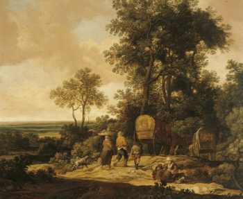 Landscape with Peasants on the Road | Pieter de Molijn | Oil Painting