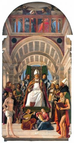 Altarpiece of Saint Ambrose | Marco Basaiti | Oil Painting
