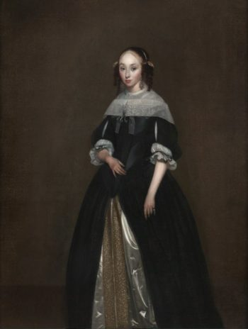 Portrait of a Young Lady   Gerard ter Borch   Oil Painting