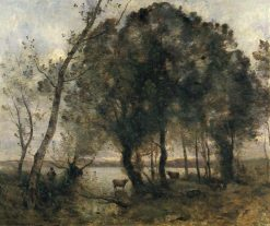 The Lake | Jean Baptiste Camille Corot | Oil Painting
