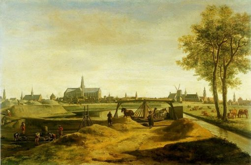 The Construction of the New Ramparts at Haarlem in 1671 | Gerrit Adriaensz.Berckheyde | Oil Painting
