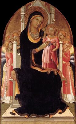 Virgin and Child Enthroned with Six Angels | Lorenzo Monaco | Oil Painting