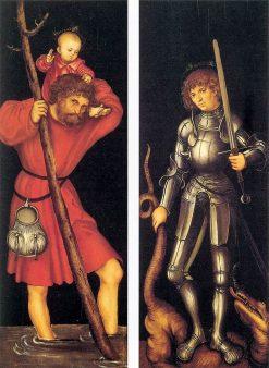 Saints Christopher and George | Lucas Cranach the Elder | Oil Painting