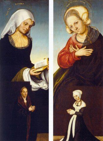 Saints Elizabeth and Anne | Lucas Cranach the Elder | Oil Painting