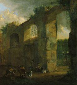 Shepherds near a Ruin | Jan Asselijn | Oil Painting
