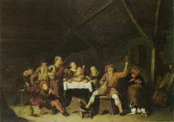 Merry Peasants   Jan Miense Molenaer   Oil Painting