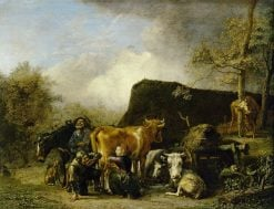 Woman Milking a Cow | Paulus Potter | Oil Painting