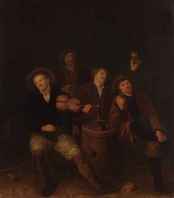Four Peasants in an Inn | Philips Koninck | Oil Painting