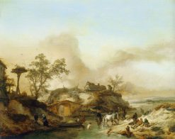 Watering Horses | Philips Wouwerman | Oil Painting