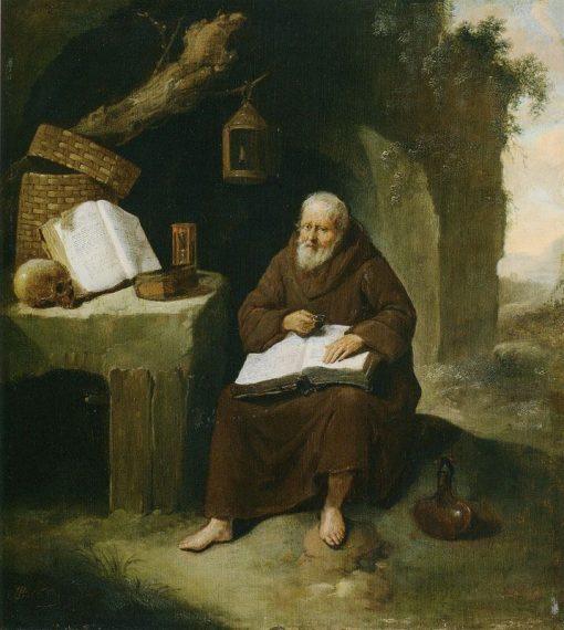 The Hermit   Quiringh van Brekelenkam   Oil Painting