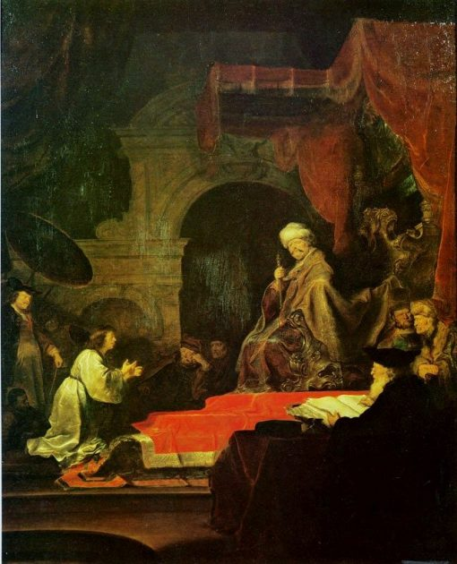Daniel Expounding Nebukadnezzar's Dream | Salomon Koninck | Oil Painting