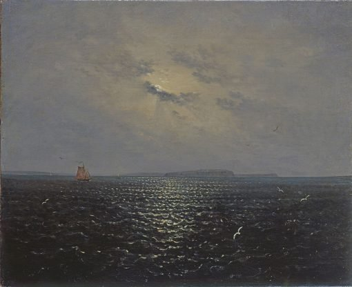 Moonlit night near the island of Rugen | Carl Gustav Carus | Oil Painting