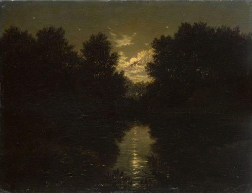 Mondscheinlandschaft | Carl Gustav Carus | Oil Painting