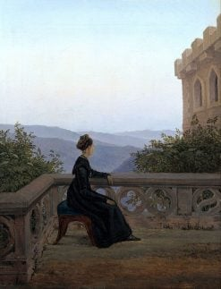 Woman on a Balcony | Carl Gustav Carus | Oil Painting
