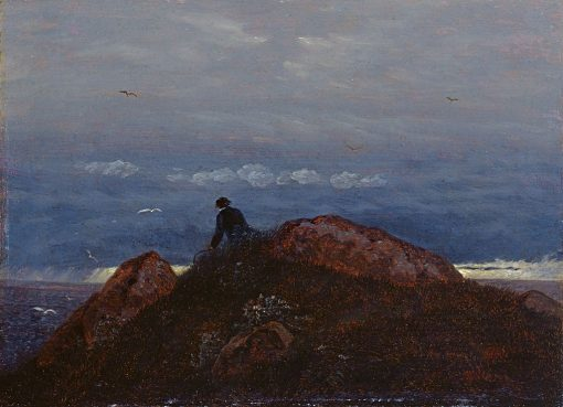 Figure Sitting on a Mountain | Carl Gustav Carus | Oil Painting